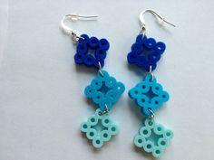 Dangle Diamond Shape Earrings perler beads by PerlerDesignsbyKatie