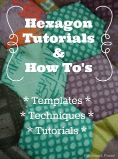 This hexagon quilt is super quick and easy. The hexagon flowers are appliqued on the 9 patch quilt block background. Hexagon Quilt Pattern, Hexagon Patchwork, Quilt Patterns, Sewing Patterns, Hexagon Quilting, Tatting Patterns, Hand Quilting, English Paper Piecing, Quilting Tips