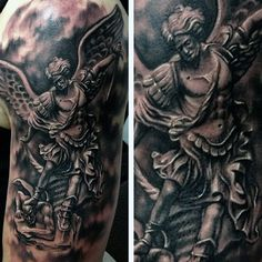 Tattoos Of Archangel Micheal For Guys