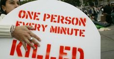Every minute, one person is killed by armed violence. The time for a bullet-proof arms trade treaty is now.