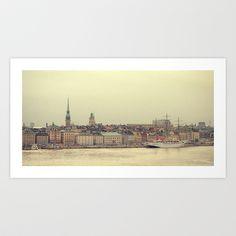 Gamla Stan  Art Print by Patrick Silveira - $19.76