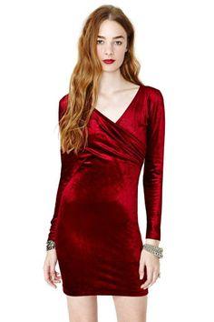 Betsey Johnson Crimson Crush Velvet Dress #vintage