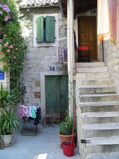 Split, Croatia. We stayed foe one night in this small hostel