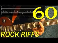 How to Play 60 Rock Riffs - Guitar Lesson - Beginners Music Theory Guitar, Guitar Chord Chart, Guitar Solo, Guitar Tabs, Music Guitar, Playing Guitar, Guitar Notes, Learning Guitar, Guitar Scales