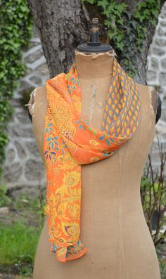 #Chiffon #Scarf - pretty Summer scarf with exotic Peacock design. Lovely combo of colours depicting Peacock feathers.  Sale Price £9.95 + P&P 25% off all our scarves throughout July 2015. For more info visit: http://www.lovelysilks.com