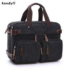 Daily Sale $35.75, Buy Men Handbags Laptop Shoulder bags Men Crossbody bag Messenger Large capacity Canvas Multifunctional Bags