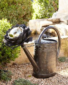 Peony Watering Can by MacKenzie-Childs at Horchow.