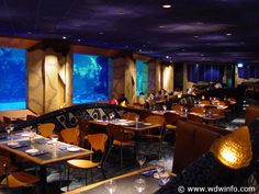 Another one of my favorite places to eat is located at Disney World's Epcot. It's called Coral Reef Restaurant. Their Mahi Mahi is amazing and I love their Baileys and Jack Daniel's Mousse. However, what makes Coral Reef one of my favorite places is the atmosphere. While you dine you are surrounded by an aquarium. It's so cool!