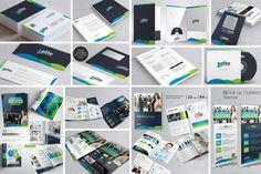 Business Branding Identity Bundle (Graphic) by ContestDesign · Creative Fabrica Corporate Branding, Business Branding, Business Card Logo, Corporate Business, Social Media Packages, Lit Wallpaper, Folder Design, Bi Fold Brochure, Mega Pack
