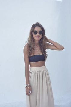 bandeau and skirt. solution to bonaroo with a normal tan lines!