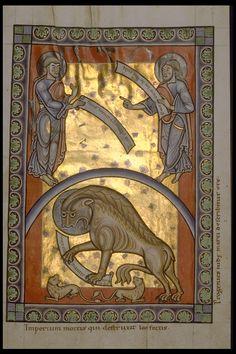 Réseau des Bibliothèques de l'Université de Liège; Evangéliaire d'Averbode (ms. 363, f° 57)  région mosane, XIIe s.