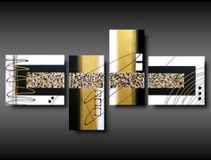 4 tele dipinte a mano moderne Abstract Line Art, Abstract Canvas Art, Acrylic Art, Multi Canvas Painting, Diy Painting, Modern Canvas Art, Modern Art Paintings, Glass Wall Art, Stencil