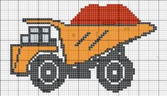 Véhicule - véhicle - camion chantier - point de croix - cross stitch - Blog : http://broderiemimie44.canalblog.com/