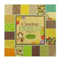 "Cheekee Monkey Paper Pack  sku# 975391  Price: $19.99  Description       Cheekee Monkey Paper Pack from the Paper Studio is perfect for showcasing your little ones having fun at the park, zoo or wherever the monkey business happens. The designs feature fun and adorable patterns that are sure to inspire your layouts, handmade cards, and other projects. The pack contains 60 acid and lignin free sheets (three sheets each in 20 designs) measuring 12"" x 12""."