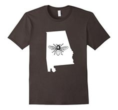 State Beekeeping T-Shirts Alabama Bee Lover Shirt, Beekeeper T Shirt, Beekeeping Have beekeeping in your blood and on your brain? This I Love Bees shirt is perfect for you. The beekeeper in your life will love this shirt whether they are an amateur beekeeper or professional. If you keep honeybees for fun or to help save the bees or showing that all hives matter. Everyone from honeybees to drones to queen bees will love the funny honey this shirt brings.