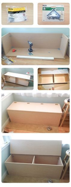 Pintrest @Lvngdedgrl- DIY storage Bench