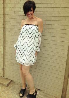 off the shoulder dress, $48.00