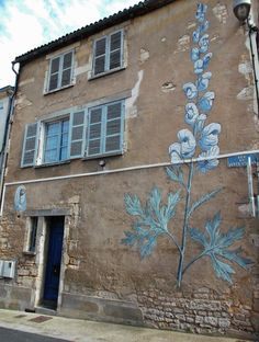 Niort, France, fresque murale