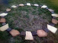 Building Outdoor Ritual Space (the link stinks but I like the look of this simple circle)