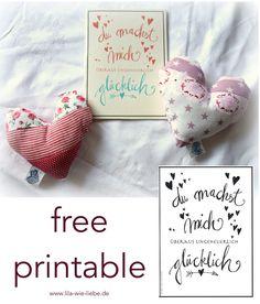 free printable - kostenlose Karten zum Ausdrucken für den Valentinstag ...oder einfach so für zwischendurch! Macht euren Lieben eine Freude!