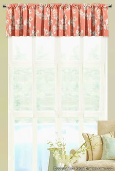 """Rod Pocket Valance: Rod Mounted - Handmade with great care, it features a 3"""" pocket and provides a decorative touch to any room"""