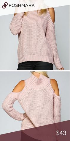 🌸LAST ONE🌸 COLD SHOULDER SWEATER Cold shoulder mocha pink sweater. 100% soft acrylic. S/M • M/L ❇PRICE FIRM❇ 🌸Reasonable offers are considered on all listings if that listing is not on sale or marked firm🌸Ty💕 Sweaters