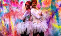 Nothing is more fun than The Color Run + tutus! the-color-run