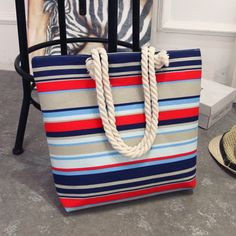 Cheap beach bag, Buy Quality big bag directly from China messenger bag Suppliers: 2017 New Summer Women Canvas bohemian style striped Shoulder Beach Bag Female Casual Tote Shopping Big Bag floral Messenger Bags Canvas Handbags, Tote Handbags, Canvas Tote Bags, Fashion Handbags, Luxury Handbags, Crossbody Bags, Canvas Totes, Luxury Purses, Cheap Handbags