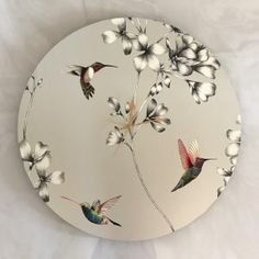 Hummingbird Clock - 60cm Shop Clocks - Kirsty Badenhorst Interiors | Ikat & Ivory | Online Store Hummingbird, Ikat, Clocks, Decorative Plates, Ivory, Interiors, Handmade, Shopping, Home Decor