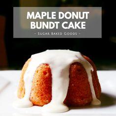 Maple Donuts, Cream Cheese Glaze, Maple Cream, Latest Recipe, Bundt Cakes, Baking Tips, Baked Goods, Sugar, Mini