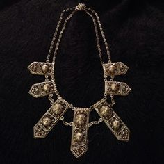 """Fabulous Etruscan style necklace """"Just Reduced"""" This is a very unusual, rare, vintage (1941) rhodium plated necklace in excellent condition.  Marked Etruscana. (Pictures don't adequately show how absolutely fabulous this piece really is) just reduced 10/15/15 Etruscana Jewelry Necklaces"""