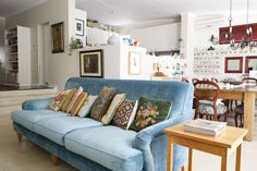 A series of needlepoint cushion - Tamara's Quirky Cape Town Home