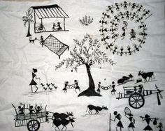 Warli Painting | Shruti Harohalli Art Inc.