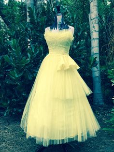 Vintage Cupcake Dress Vintage Prom Dress Vintage Bridesmaid Dress Tulle Cupcake Dress 1950s Prom Dress by INTUITIONVINTAGE on Etsy