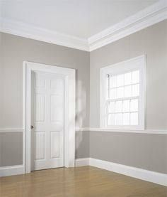 Chair Rail Paint Ideas Chair Rail Painting Ideas Grounded The Wall Under Our Darker Chair Rail Baseboard Styles Wainscoting Styles Pictures For Kitchen Walls