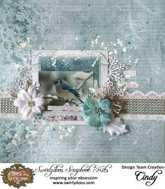All that Glitter for Swirlydoos - Kaisercraft - Silver Bells Collection - Christmas Scrapbook Albums, Scrapbook Designs, Scrapbook Page Layouts, Page Scrapbooking, Scrapbook Sketches, Scrapbook Background, Photo Printing Services, Christmas Scrapbook, Paper Flowers