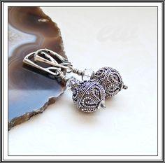 Silver earrings with swarovski crystal