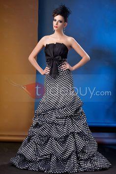 マーメイドストラップレス床までの長さプロム/イブニングドレス