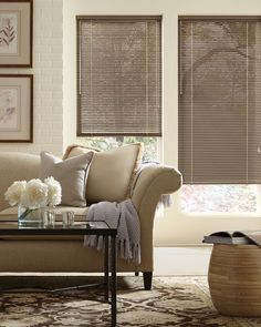 Decor® Aluminum Blinds with Cordlock in the living room