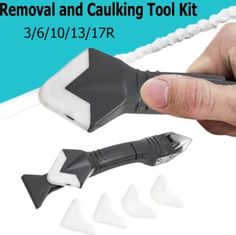 3 In 1 Ultimate Caulking Tool - Gale H. Home Gadgets, Gadgets And Gizmos, Homemade Tools, Diy Tools, Construction Tools, Diy Home Repair, Garage Tools, Cool Inventions, Diy Décoration