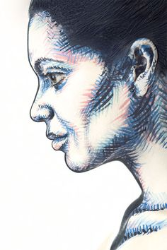 2D or Not 2D? Body Paint Illusion Makes Faces Look Flat