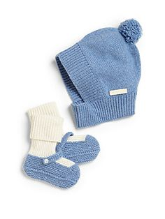 Burberry Infant's Two-Piece Cashmere Hat & Booties Set
