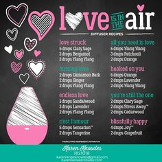 Love Is In The Air Diffuser Blend Recipes - Karen Renee Knowles