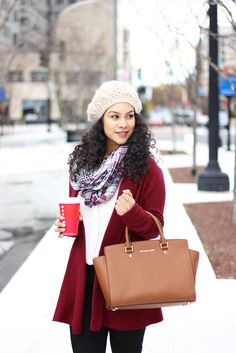 Loft Cardigan and Scarf Michael Kors Selma Bag