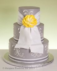 Victorian Elegance Wedding Cake by Jacques Fine European Pastries