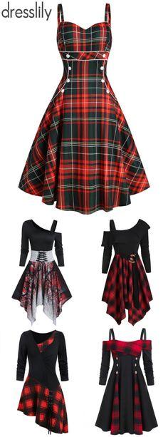 Vintage Dresses - Retro & Vintage-Inspired Dresses - dress Fashion Trends - Fashion Ideas for dresses. #dresslily #green #vintagedress #red #newyear