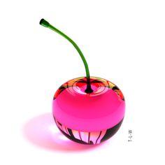 Pink Glass Cherry