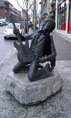 Jimi Hendrix Statue, Capitol Hill, Seattle, WA-seattlerex.com