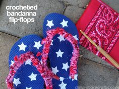 Tutorial: Crocheted Bandanna Flip-Flops