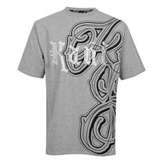 Karl Kani T-Shirt Gothic Scripted H.Grey